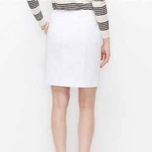 Ann Taylor White Lined Stretch Cotton Mini Skirt